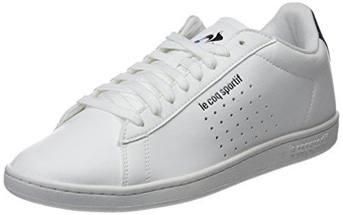 le coq Sportif Courtset Sport Optical White/Dress Blue, Baskets Hommes, Beige Blanc, 43 EU