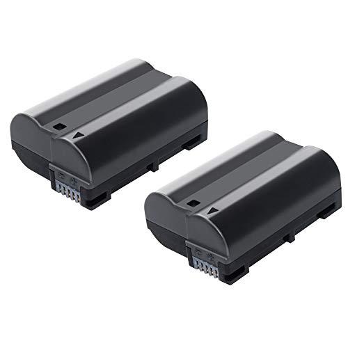 Bonacell 2 Pack Replacement Nikon EN-EL15 Battery for Nikon D850, D7500, D500, 1 V1, D7100, D750, D7000, D7200, D810, D610, D800, D600, D800E, D810A Camera