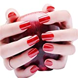 24 Pcs/Set Red False Nails Full Cover Artificial Fake Nails Press On Nail Tips Short Design Stickers Art Tips