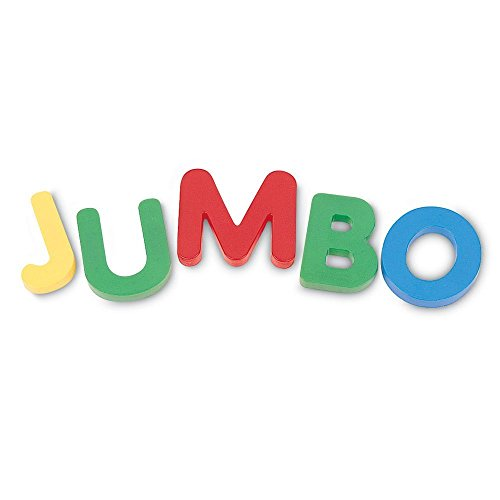 Learning Resources Jumbo Magnetic Uppercase Letters, ABCs, Early Letter Recognition, 40-Pieces, Assorted Colors, Ages 3+