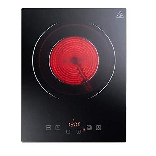 XIUYU Induktionskochfeld Glaskeramikherd hohe Leistung 2300W voll mikrokristallinem Panel Touch-Control-weit Infrarot-Heizung sicher Keine Strahlung, Schwarz eingebettet (Color : Black)