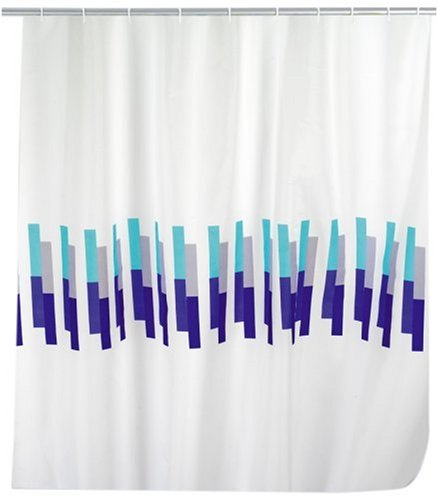 WENKO 19157100 Duschvorhang Marina - hochwertiges Textilgewebe, 120 x 200 cm