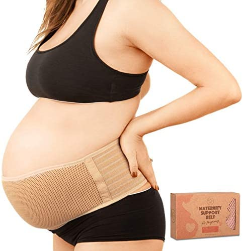 Maternity Belly Band for Pregnancy Soft Breathable Pregnancy Belly Support Belt Pelvic Support product image