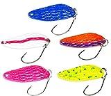 FISHN Trout Spoon Set - Bowne, Peso: 3 Grammi, Lunghezza: 2.8 cm, Esca Trota, Cucchiaio Trota, Esca...