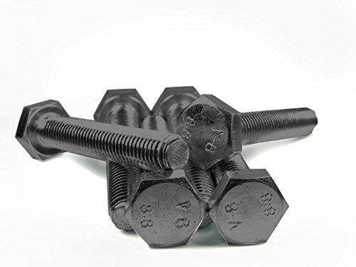 DIN 933 / ISO 4017 PROFI Sechskant Schraube Vollgewinde Güte 8.8 blank Stahl gehärtet - DIN933 PROFI 6kt VGW G8.8 BLK SGH - M8 x 60 (25 Stck)