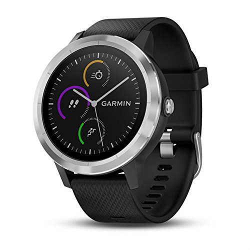 Garmin Vivoactive 3 - Smartwatch with GPS and wrist pulse, Black / Silver, M / L