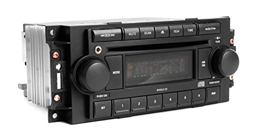 1 Factory Radio AM FM CD Upgraded w Aux Input for iPhone Android Compatible With 04-10 Chrysler P05091710AE REF
