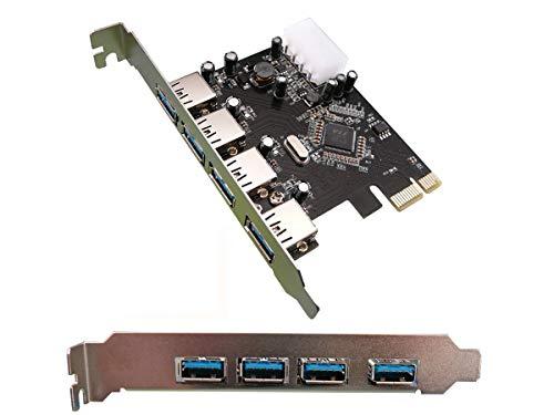 Kalea Informatique Controller PCI Express Karte (4Ports USB 3.0, Chipsatz VIA VLI VL800, abwärtskompatibel USB 2.0)