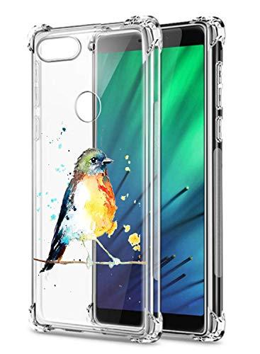 Oihxse - Carcasa de silicona para Xiaomi Mi 8 Pro (poliuretano termoplástico), color transparente