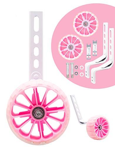 moli dee Bicycle Training Wheels Fits 14 16 18 20 22 inch Kids Bike (Pink)