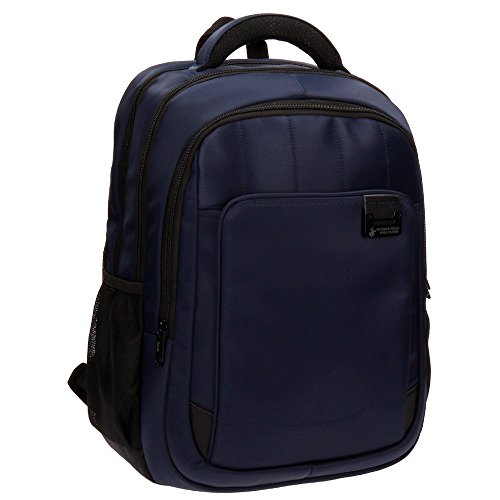 Beverly 5332753 Hills Polo Club Bolt Mochila Portaordenador, 46 cm, 29.12 litros, Azul
