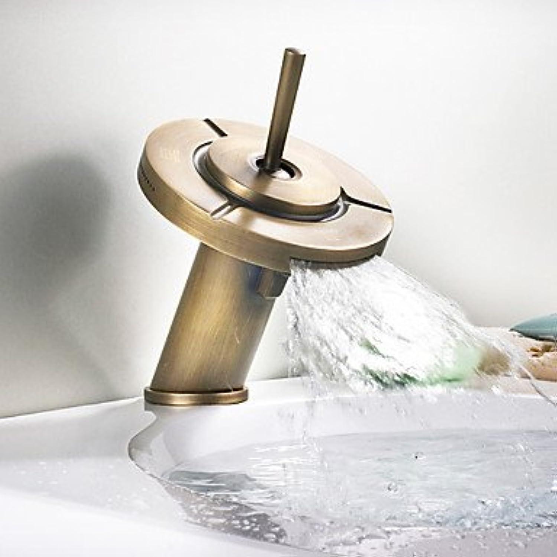 BiuTeFang Waschtischarmatur Antik 3 Funktionen Waschbecken Wasserhahn Bad Wasserhahn Waschbecken Armatur