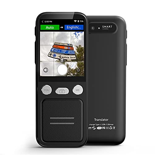 Language Translator Device, Portable Two Way Instant Voice Translator Support 138 Languages with 98% Accuracy Online Translation, Photo & Offline Translation, Fast - Under 0.5 Sec