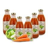 Zumo de Manzana y Zanahoria Ecológico - Sin Azúcares Añadidos - 6 Botellas de 750ml
