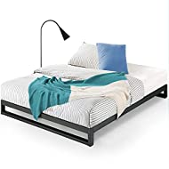 ZINUS Trisha Metal Platforma Bed Frame / Wood Slat Support / No Box Spring Needed / Easy Assembly, Twin