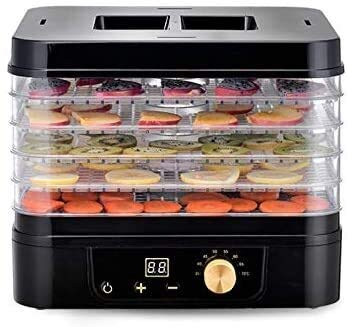 For Sale! Food Dehydrator 5-Tray Electric Food Dehydrator with Temperature Controller Professional &...