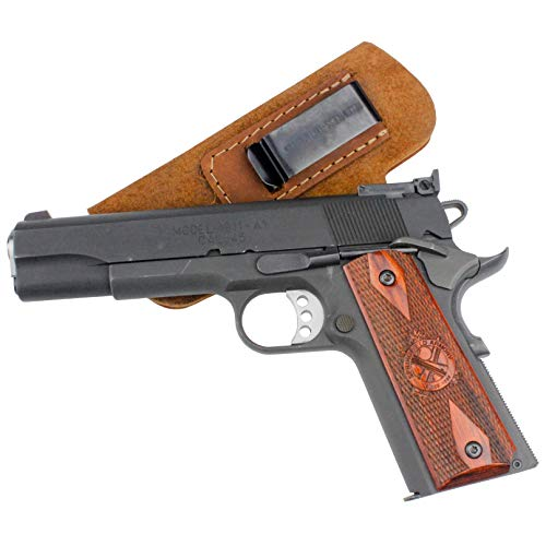 Relentless Tactical The Ultimate Suede Leather IWB Holster Right Handed - Made in USA - Fits 1911 Style Handguns - Kimber - Colt - S & W - Sig Sauer - Remington - Ruger & More - Brown LH