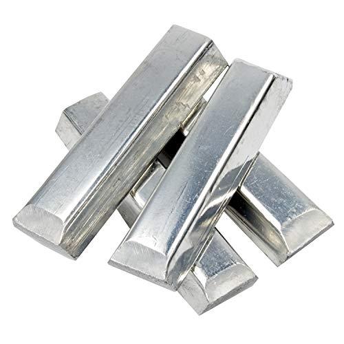 Reinzinn-Stangen Sn99 – 1000 g – Bleifreies, lebensmittelechtes Zinn (Reinzinn) – Zum Gießen von Zinnfiguren, Münzen etc.