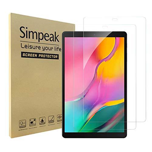 Simpeak [2 Pack Pellicola Protettiva Compatibile per Samsung Galaxy Tab A 10.1 2019, Vetro Temperato Protezioni Schermo HD Compatibile con Samsung Galaxy Tab A 10.1 2019 [Anti-graffio]