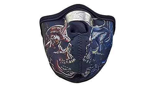 kenai dark Motorrad Neopren Maske Horror Totenköpfe mit Feinstaubfilter, Biker Maske Horror Skullsl,Winddicht Staubdicht