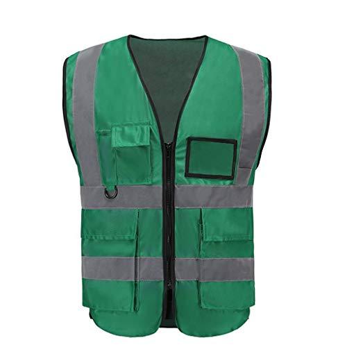 Vest Workwear Safety Gilet Reflecterende Securite Veiligheid Vest Reflector Mouwloos Jas Groen
