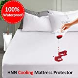 Premium Mattress Protector 100% Waterproof Mattress Pad Cover Breathable Hypoallergenic Vinyl Free Fitted
