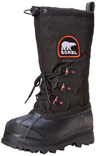 Sorel Women's Glacier XT Boot,Black/Red Quartz,5 M US