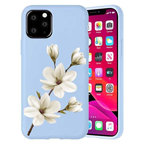 Yoedge Púrpura Custodia para Huawei nova 3i/ Huawei P Smart Plus 6.3″ Dibujos Animados Carcasa de Silicona Case Protectora de TPU Suave Protección Cover para nova3i Teléfono móvil Carcasas Fundas,flor