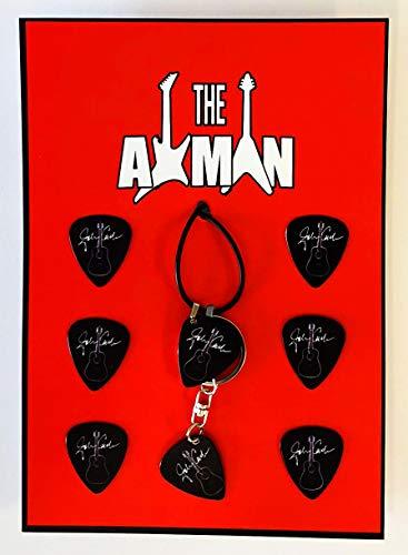 Axman Johnny Cash - Colgante con llavero y 6 púas (1 colgante + 6 púas)
