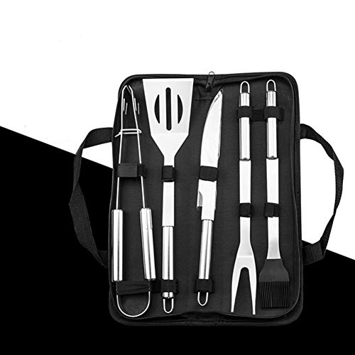 Cheapest Price! YALTOL Barbecue Tool Set 5pcs Cooking Combination Grilling Utensils Stainless Steel ...