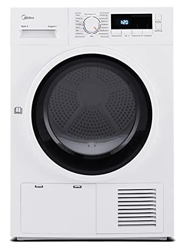Midea Wärmepumpentrockner T 4.820 WP / 8kg / A++ / 236 kWh/Jahr/AutoDry/Knitterschutz/Reversierende Trommel/Startzeitvorwahl / 16 Programme, Weiß