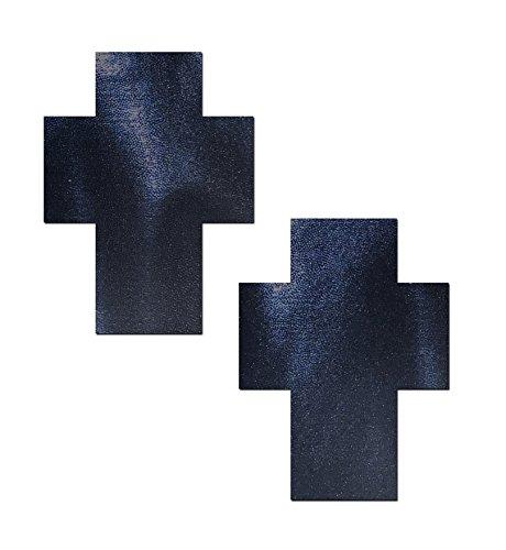 Creamlin 10Pairs Nero Nurse Croce adesiva Cross Nipple Cover Pasties monouso