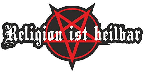 wetterfester Aufkleber Religion ist heilbar Pentagramm