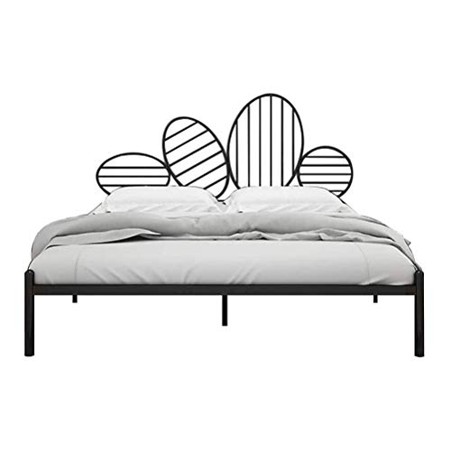 Household Products Metal Bed Frame Twin Size Single Platform Mattress Base with Headboard and Footboard Sturdy Metal Tube Frame Height for Under Bed Storage (Size : 1.8M*2M)