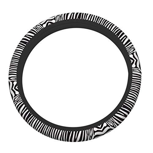 Cubierta de volante Animal Zebra Protector de rueda de coche Transpirable Antideslizante Protector de volante automático Fundas de vola