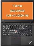 "Lenovo ThinkPad T470 14"" IPS Full HD FHD (1920x1080) Business Laptop (Intel Core i5-6300U, 8GB DDR4 RAM, 256GB PCIe NVMe M.2 SSD) Thunderbolt 3, Type-C, HDMI RJ-45, Windows 10 Professional (Renewed)"