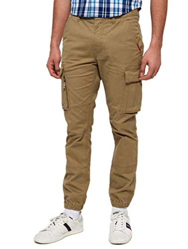 Superdry Herren International Recruit Grip Cargohose Light Fawn Gr. Bundweite: 91 cm, beinlänge: 76 cm (36 W / 30 L), Hellbraun