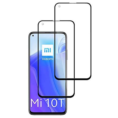 Protector de Pantalla para Xiaomi Mi 10T 5G, [2 Piezas] Cristal Templado Mi 10T 5G 3D Cobertura Completa Alta Definicion, 9H Dureza, Anti-Arañazos, Sin Burbujas, Vidrio Templado Screen Protector