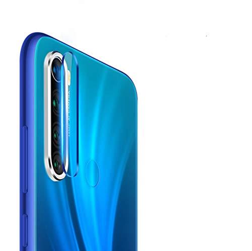 NOKOER Protector de Lente de Cámara para Xiaomi Redmi Note 8, [2 en 1] Anillo Protector Metálico para la Cámara + Película Protectora para la Cámara, Lente de la Cámara de Protección - Plata