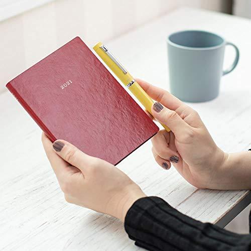 マークス手帳2021スケジュール帳ダイアリーEDiT週間バーチカル2020年12月始まりA6正寸スープル・ビス21WDR-ETG01-OR