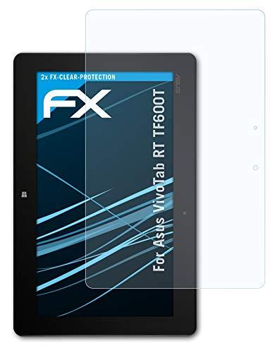 atFolix Schutzfolie kompatibel mit Asus VivoTab RT TF600T Folie, ultraklare FX Bildschirmschutzfolie (2X)