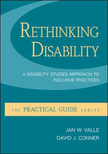 Rethinking Disability A Disability Studies Approach To Inclusive Practices A Practical Guide