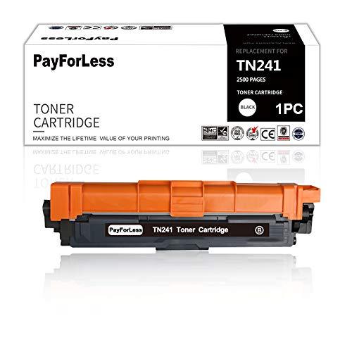 PayForLess Compatible con Brother TN241 TN241BK para Brother MFC-9332CDW DCP-9022CDW HL-3142CW MFC-9142CDN HL-3152CDW MFC-9140CDN MFC-9342CDW DCP-9017CDW 9020CDW HL-3140CW 1 Pack Negro