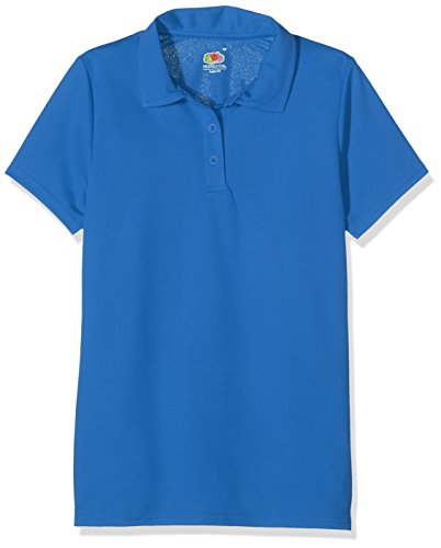 Fruit of the Loom SS131M Polo, Blu (Royal), 46 (Taglia Produttore: XX-Large) Donna