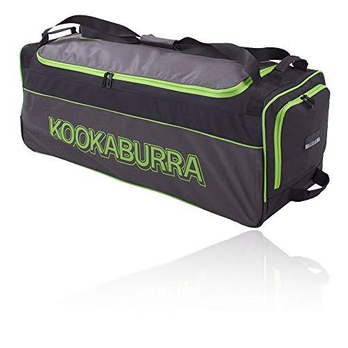 KOOKABURRA 2020 Pro 3.0 Cricket Wheelie Bag, schwarz/Lime, 920mm x 330mm x 320mm