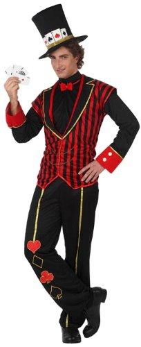 Atosa-10165 Disfraz Caballero Baraja, color rojo, M-L (10165)
