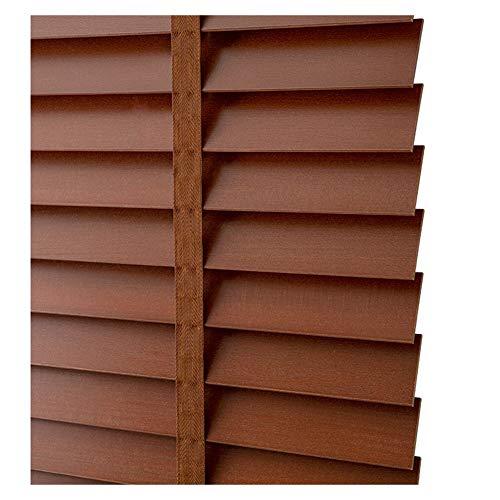 ZEMIN Jalousien Sichtschutz Fenster Nicht-schimmelig Haushalt Anhebbar Holz, Innen/Außen Installieren, Größe Anpassbare, 2 Farben (Farbe : A, größe : 100x160cm)