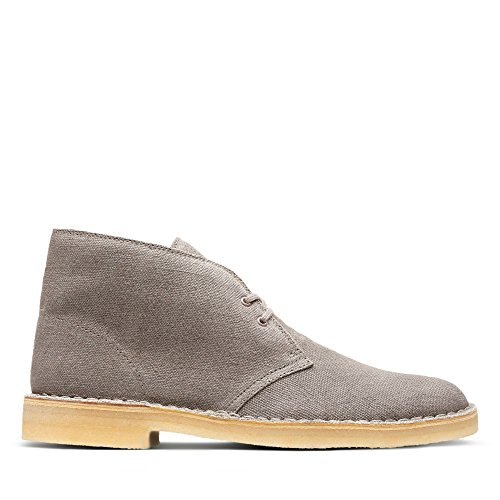 Clarks Originals Desert Boot, Polacchine Uomo, Beige (Taupe Canvas), 42.5 EU