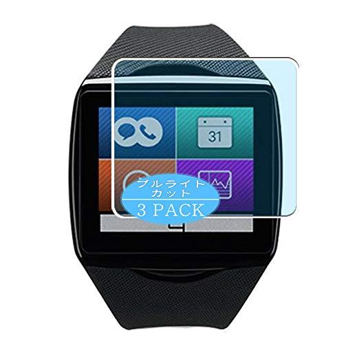 Vaxson 3 Stück Anti Blaulicht Schutzfolie, kompatibel mit Qualcomm Toq smartwatch smartwatch Smart Watch, Displayschutzfolie Bildschirmschutz [nicht Panzerglas] Anti Blue Light