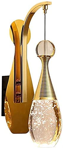 YANJ Moderno elegante lámpara de pared 5 W LED forma medusa vanidad espejo luces pared apliques pulido acabado dorado accesorio acogedor dormitorio salón decoración luz cálida 3000 K Lightin